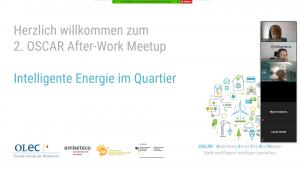 "Digitaler Austausch beim 2. OSCAR After-Work Meetup ""Intelligente Energie im Quartier"", Bildquelle: OLEC e.V."