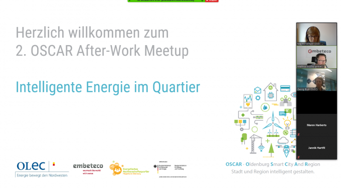 "Digitaler Austausch beim 2. OSCAR After-Work Meetup ""Intelligente Energie im Quartier"", Bildquelle: OLEC e.V."