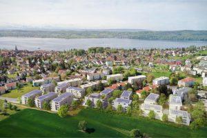 Visualisierung des Quartiers in Überlingen © Baugenossenschaft Überlingen e.G.