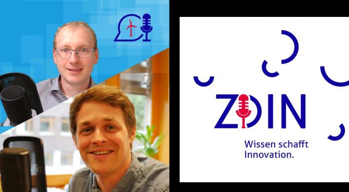 """Podcast """"Wissen schafft Innovation."""" Quelle: ZDIN"""